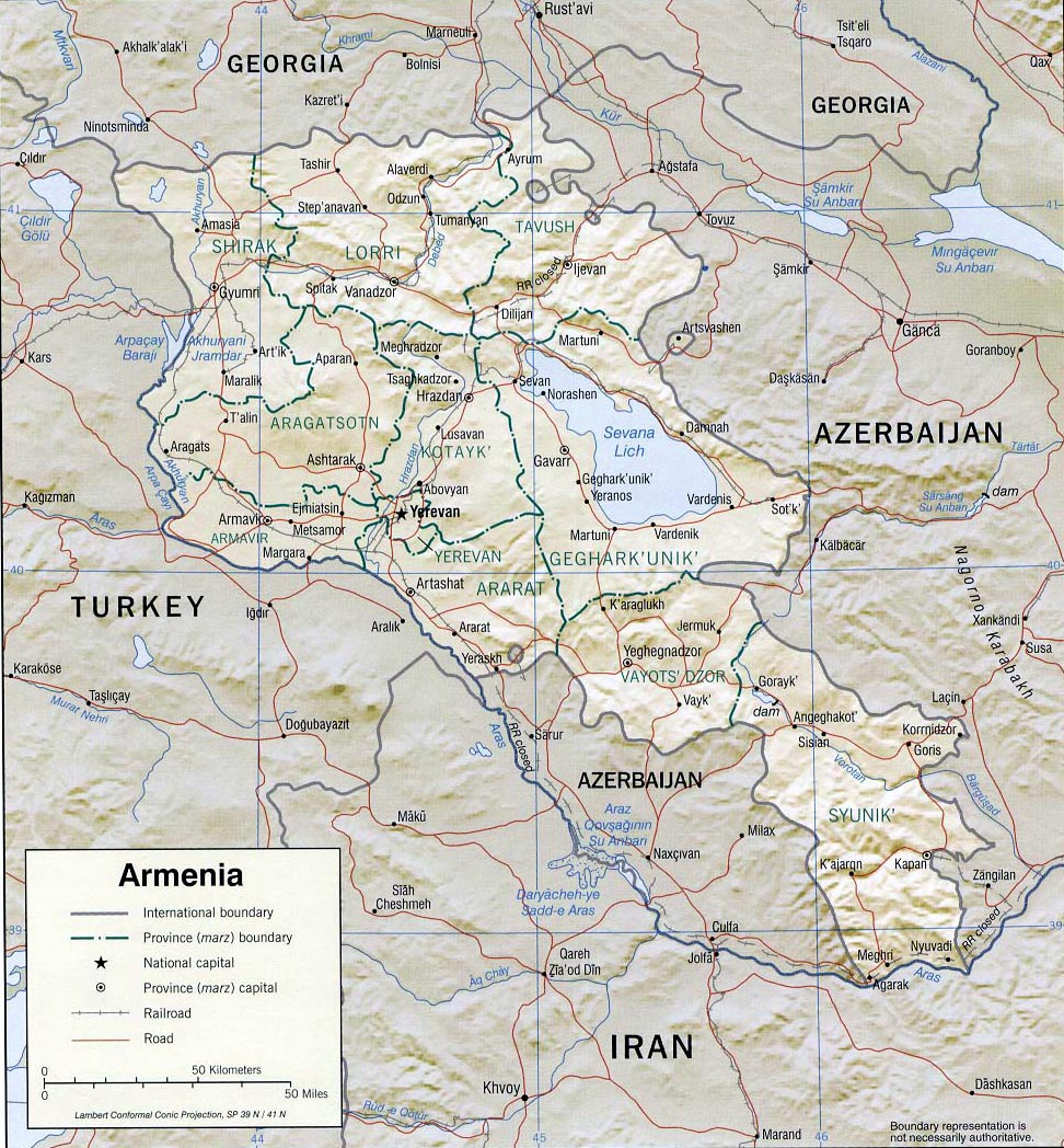 Armenia Maps Printable Maps Of Armenia For Download - Armenia map