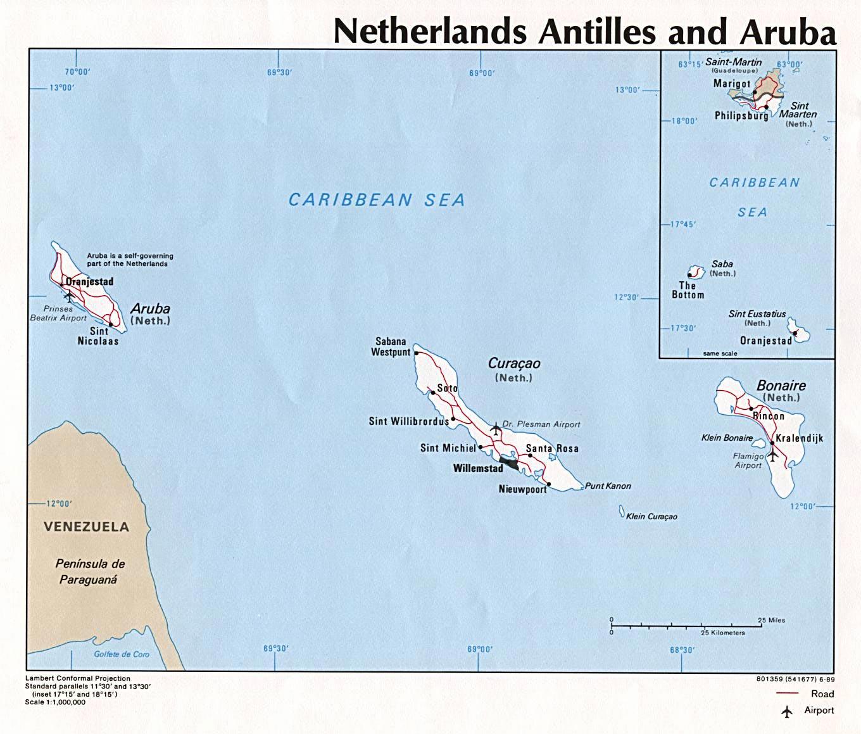 Aruba Maps | Printable Maps of Aruba for Download