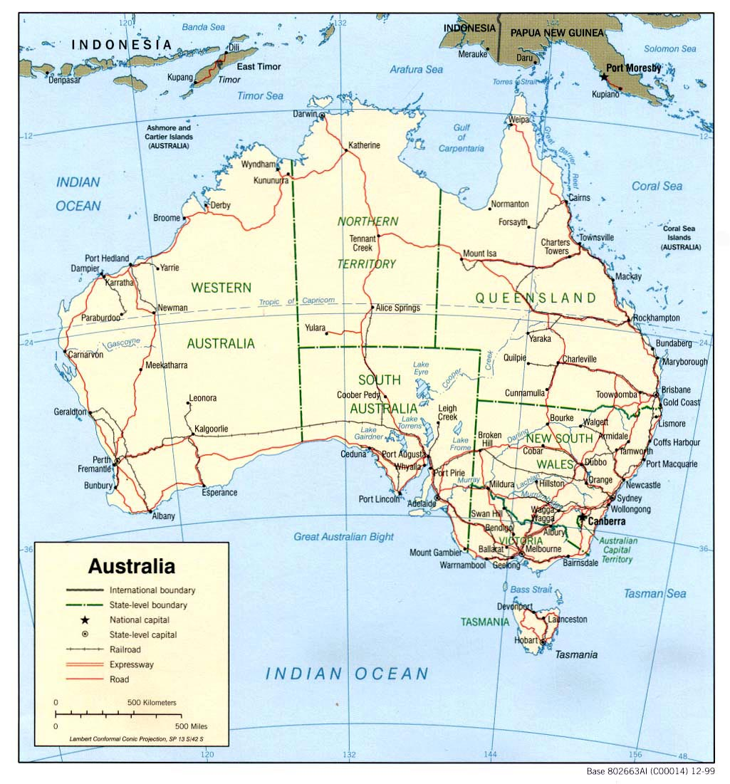 large map of australia