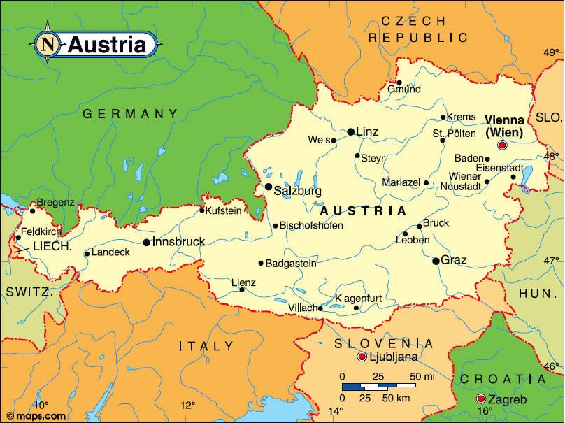 map of austria with cities Austria Maps Printable Maps Of Austria For Download map of austria with cities