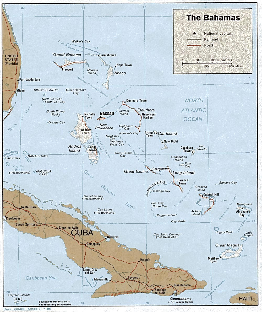 Bahamas Maps | Printable Maps of Bahamas for Download