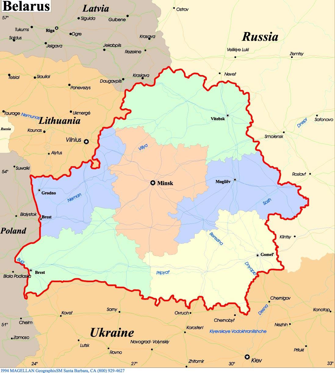 Belarus Maps Printable Maps of Belarus for Download