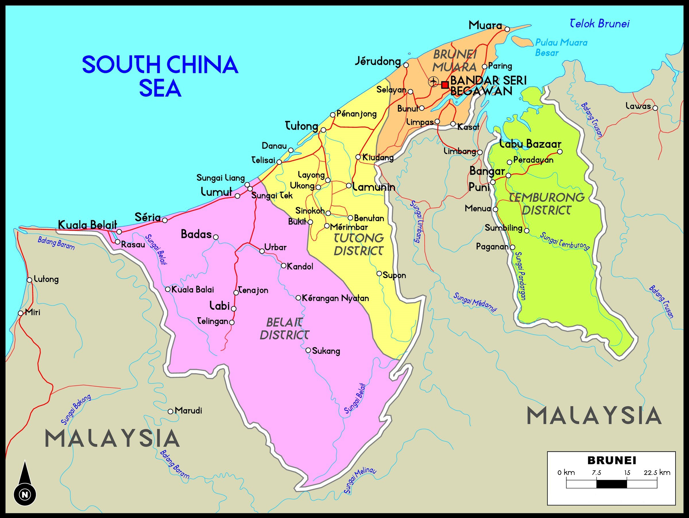Picture of: Brunei Maps Printable Maps Of Brunei For Download