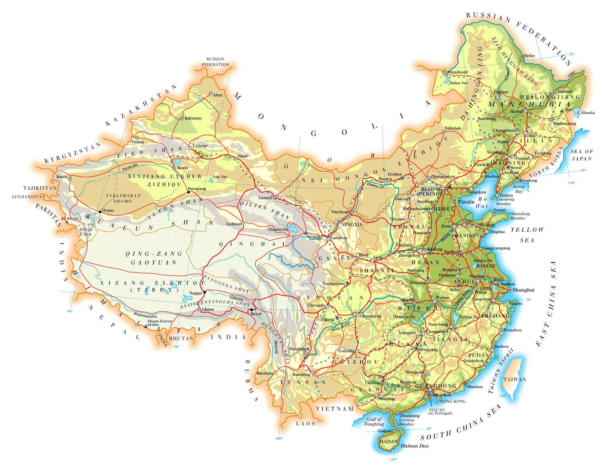 image about Printable China Map known as China Maps Printable Maps of China for Obtain