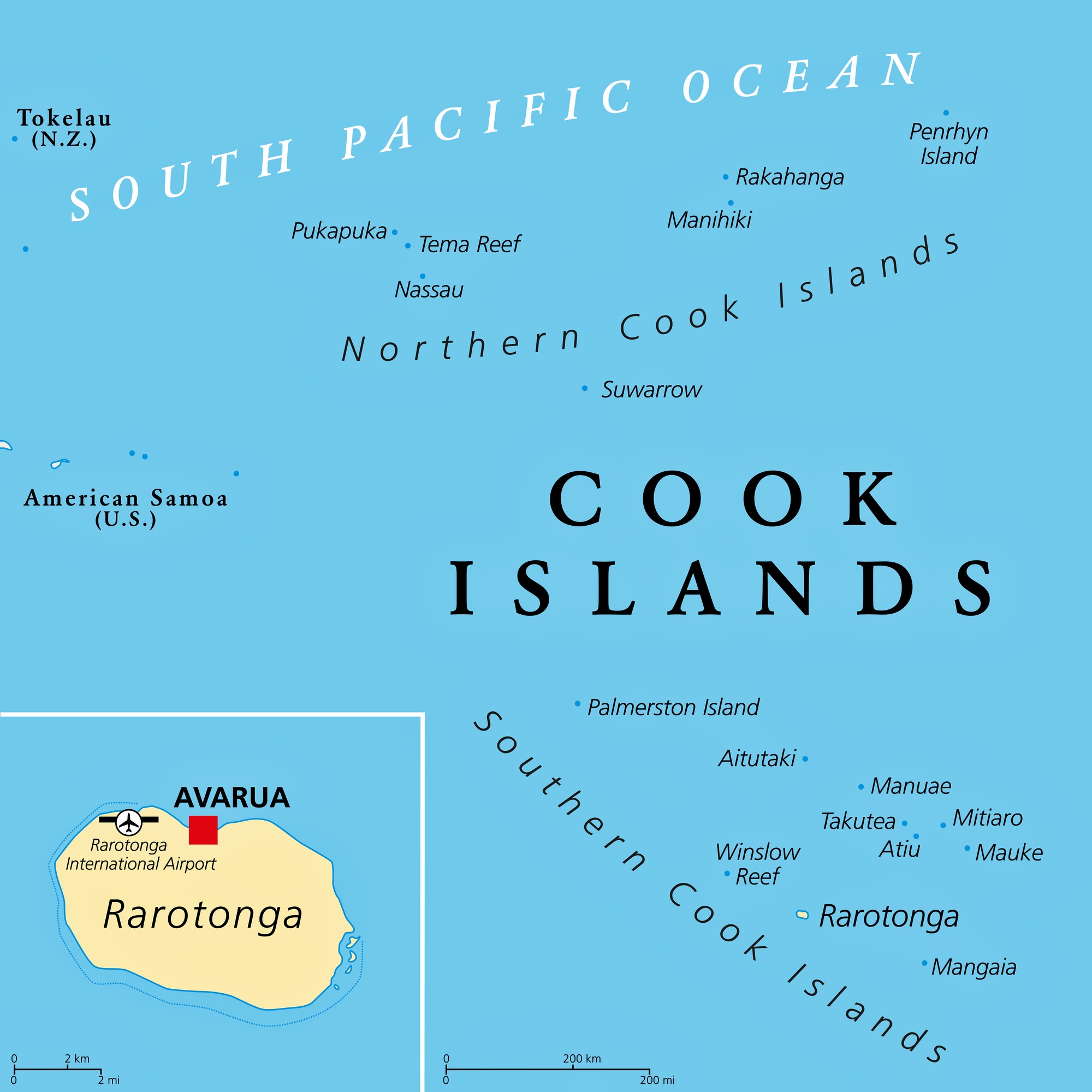 Cook Islands Maps Printable Maps Of Cook Islands For Download