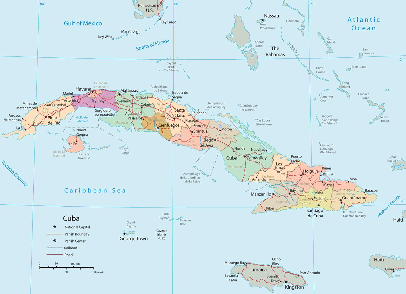 Karten Von Kuba Karten Von Kuba Zum Herunterladen Und Drucken