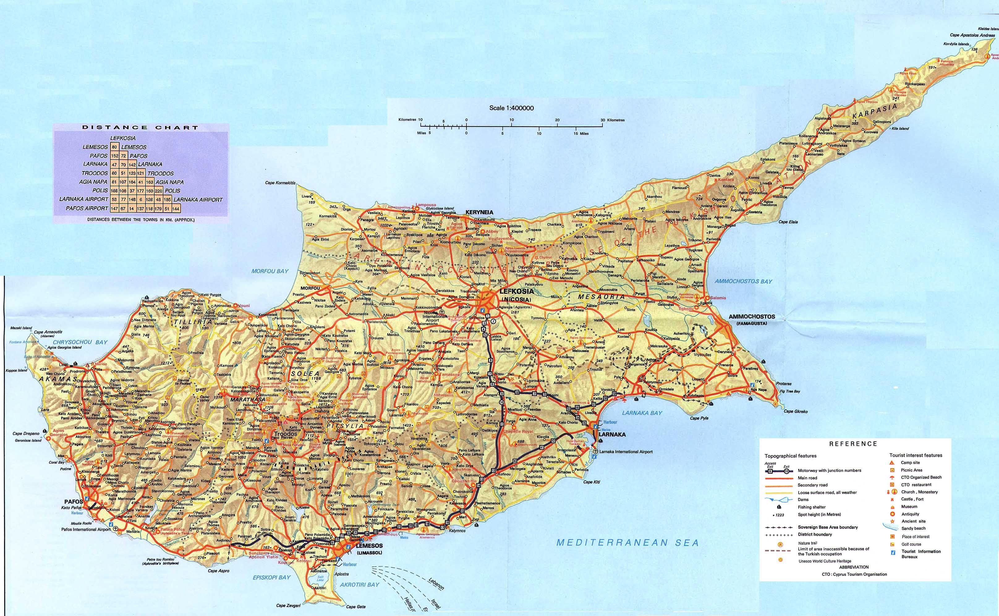 Cyprus Maps Printable Maps Of Cyprus For Download - Cyprus map