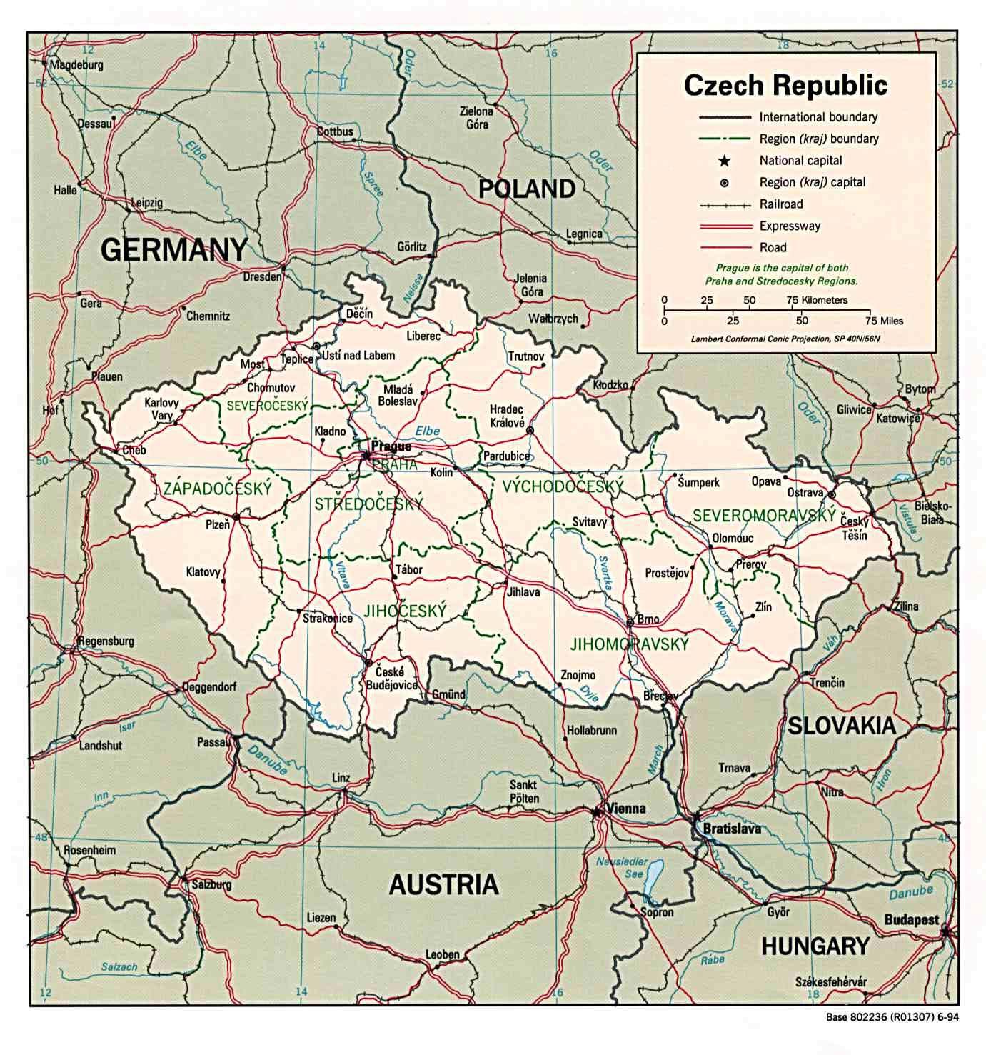 Karten Von Tschechische Republik Karten Von Tschechische