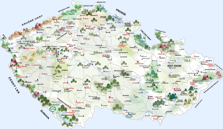 karte tschechien Karten von Tschechische Republik   Karten von Tschechische  karte tschechien