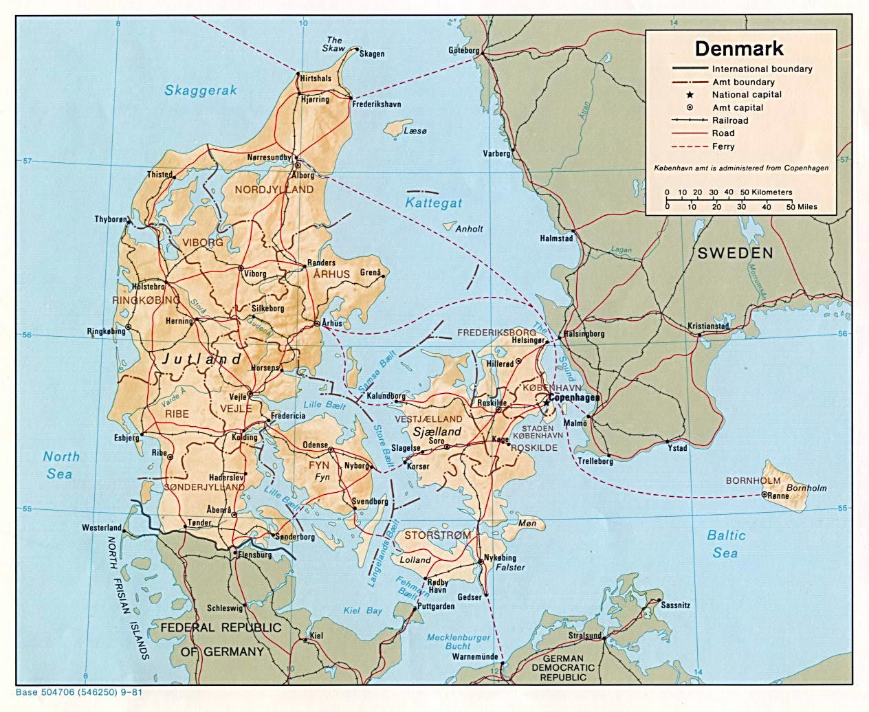 Image of: Denmark Maps Printable Maps Of Denmark For Download