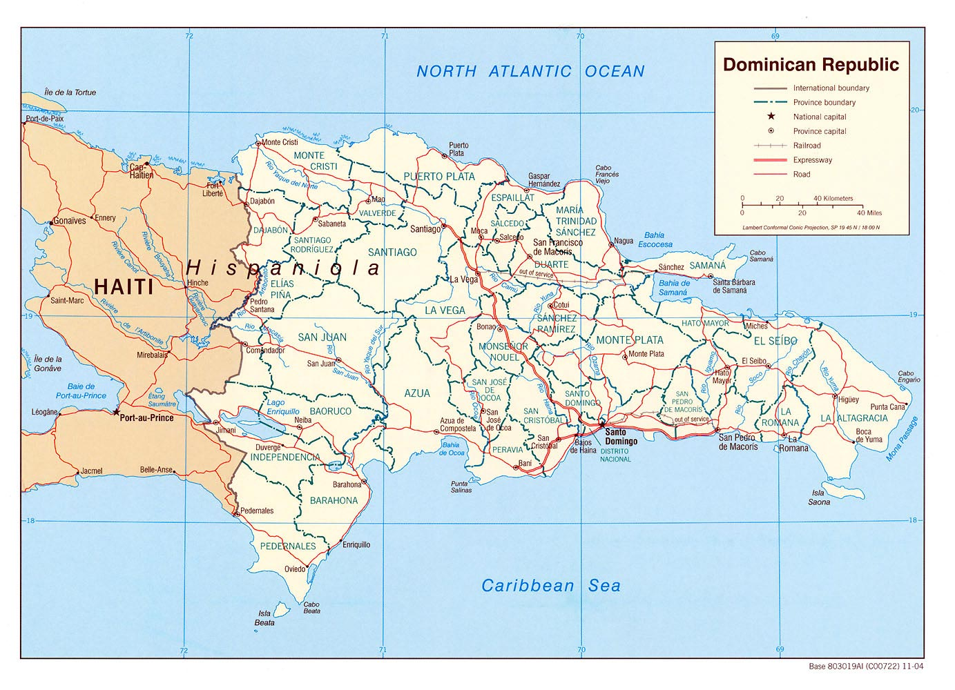 Dominican Republic Maps | Printable Maps of Dominican Republic for ...