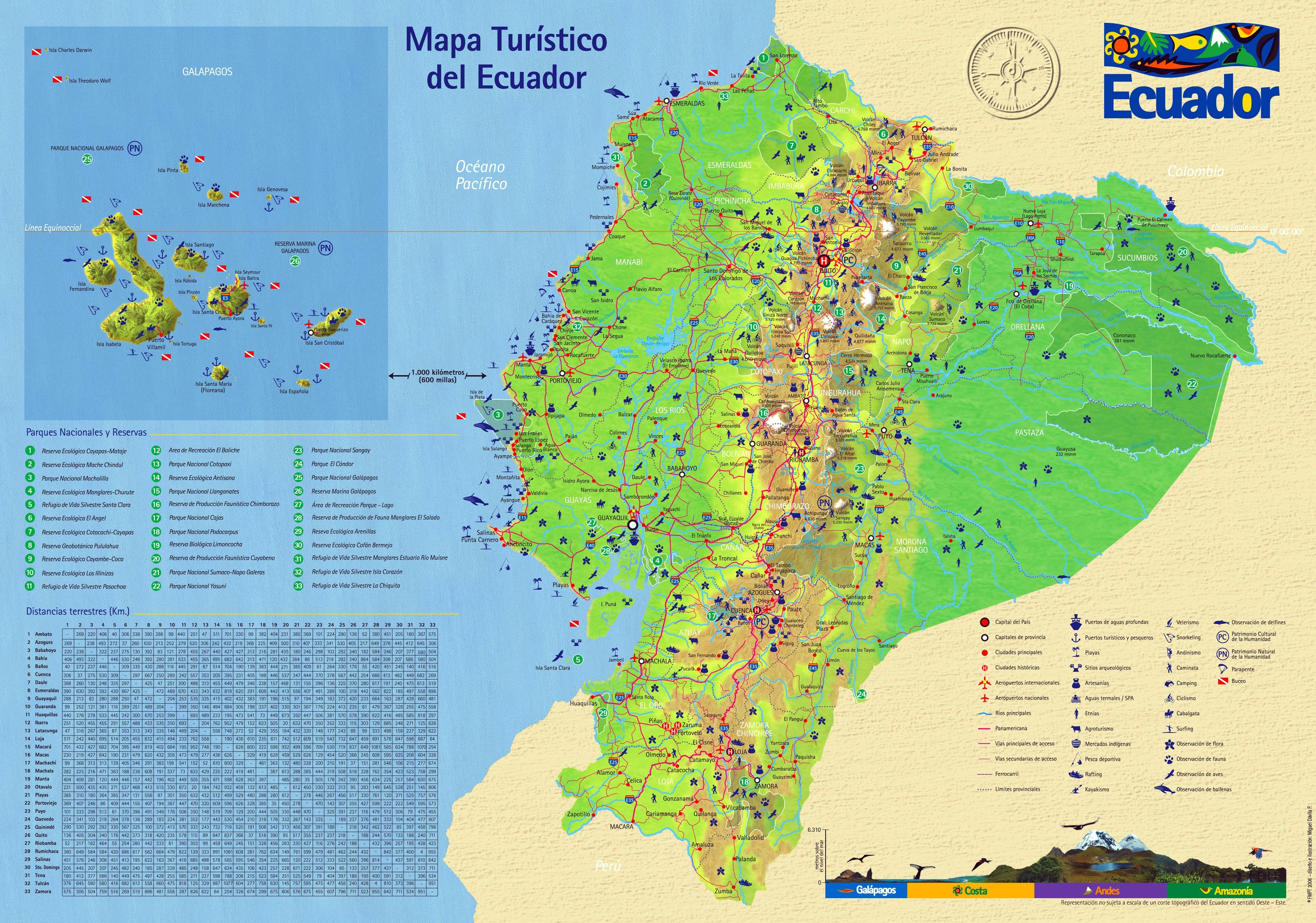 karte ecuador Karten von Ecuador   Karten von Ecuador zum Herunterladen und Drucken karte ecuador