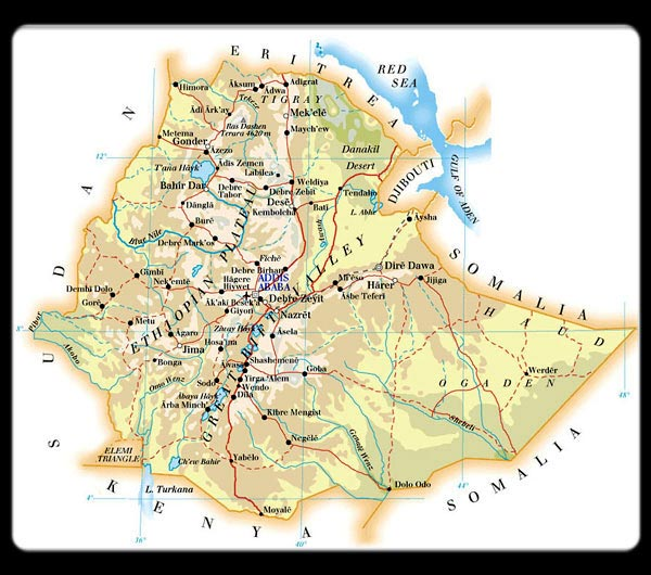 Ethiopia maps printable maps of ethiopia for download large map of ethiopia gumiabroncs Choice Image
