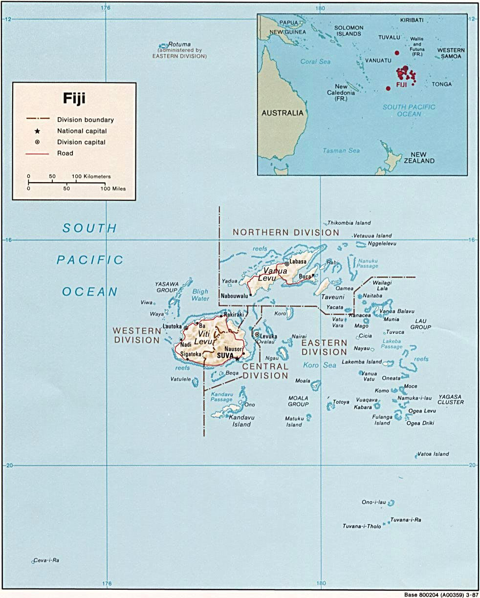 Fiji Maps Printable Maps of Fiji for Download