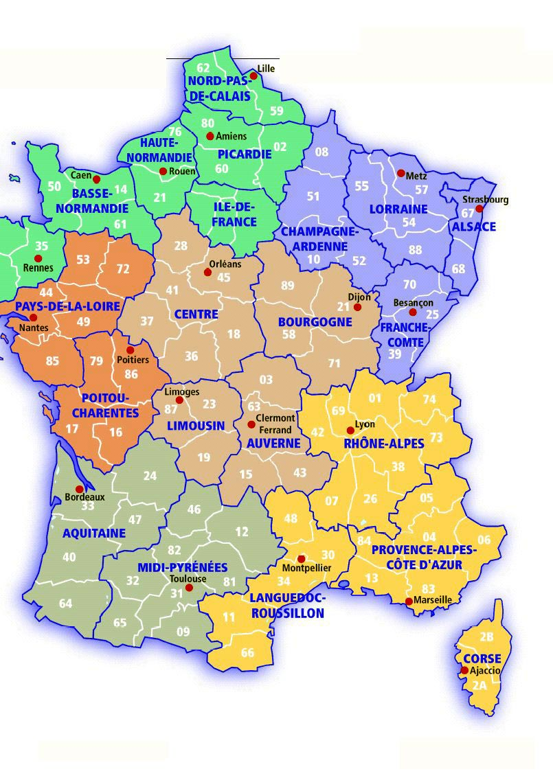 Map Of France For Kids Printable