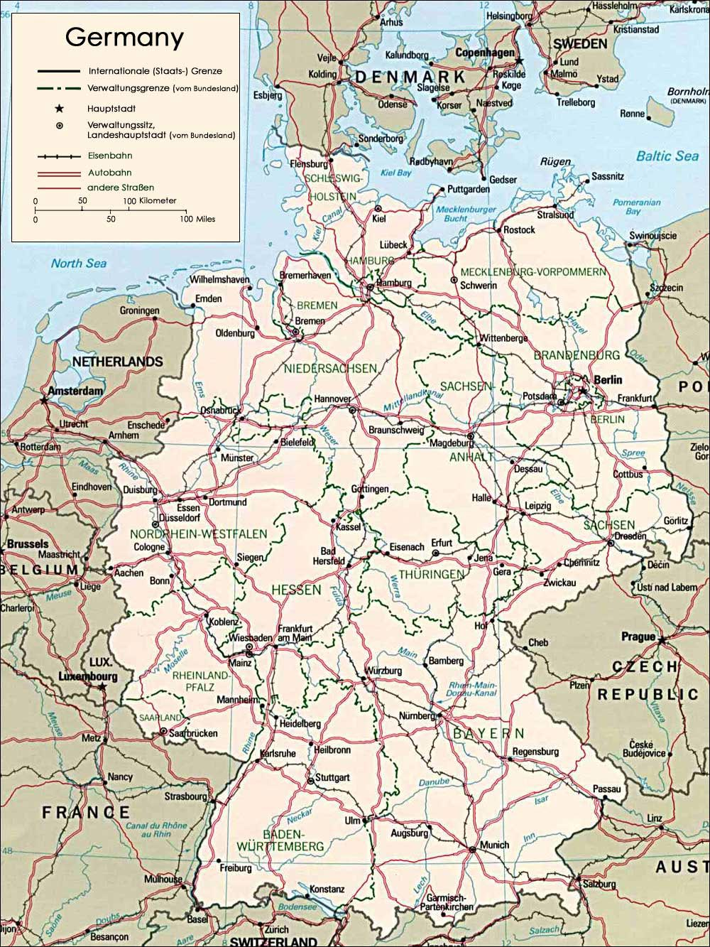 Printable Map Of Germany.Germany Maps Printable Maps Of Germany For Download