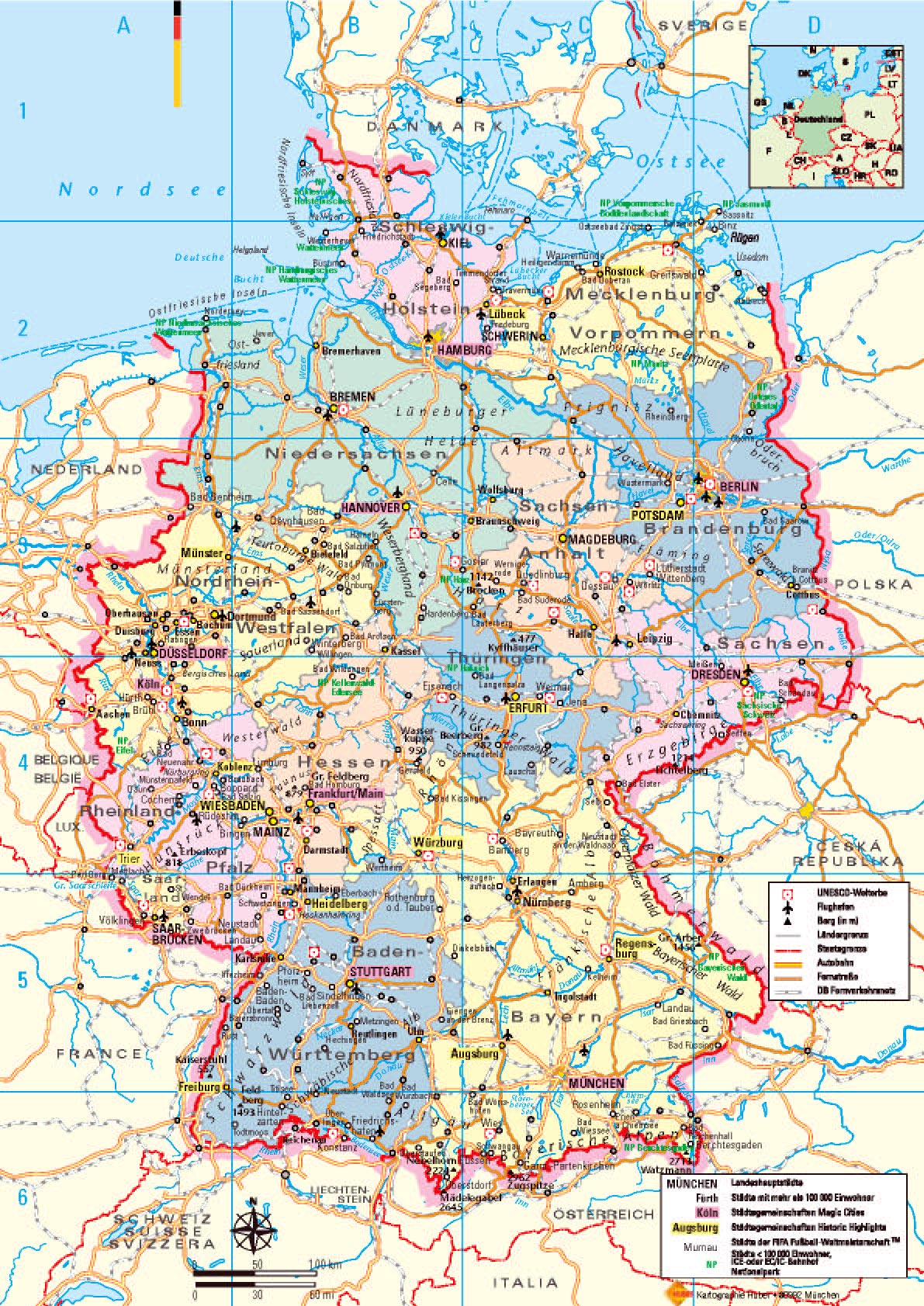 Geography Blog Detailed Map Of Germany - Germany map download