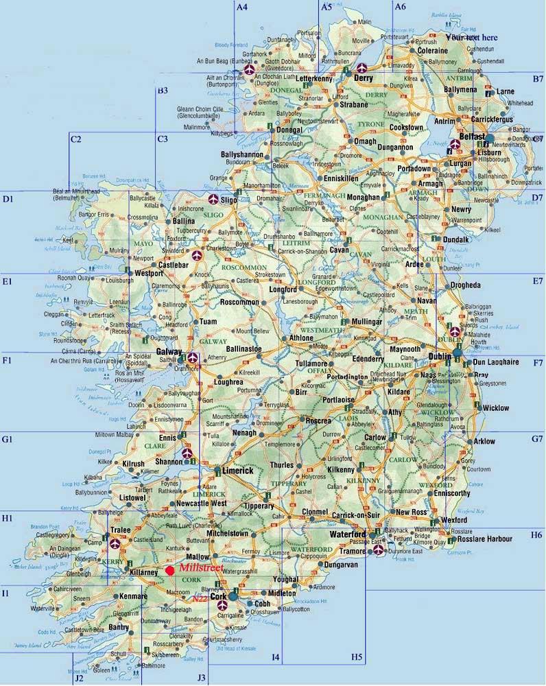 Cartes De Irlande Cartes Typographiques Detaillees Des Villes De Irlande