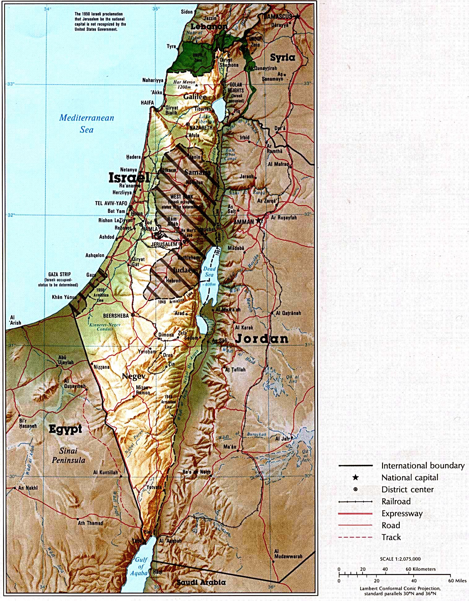 Israel Maps Printable Maps Of Israel For Download - Israel maps