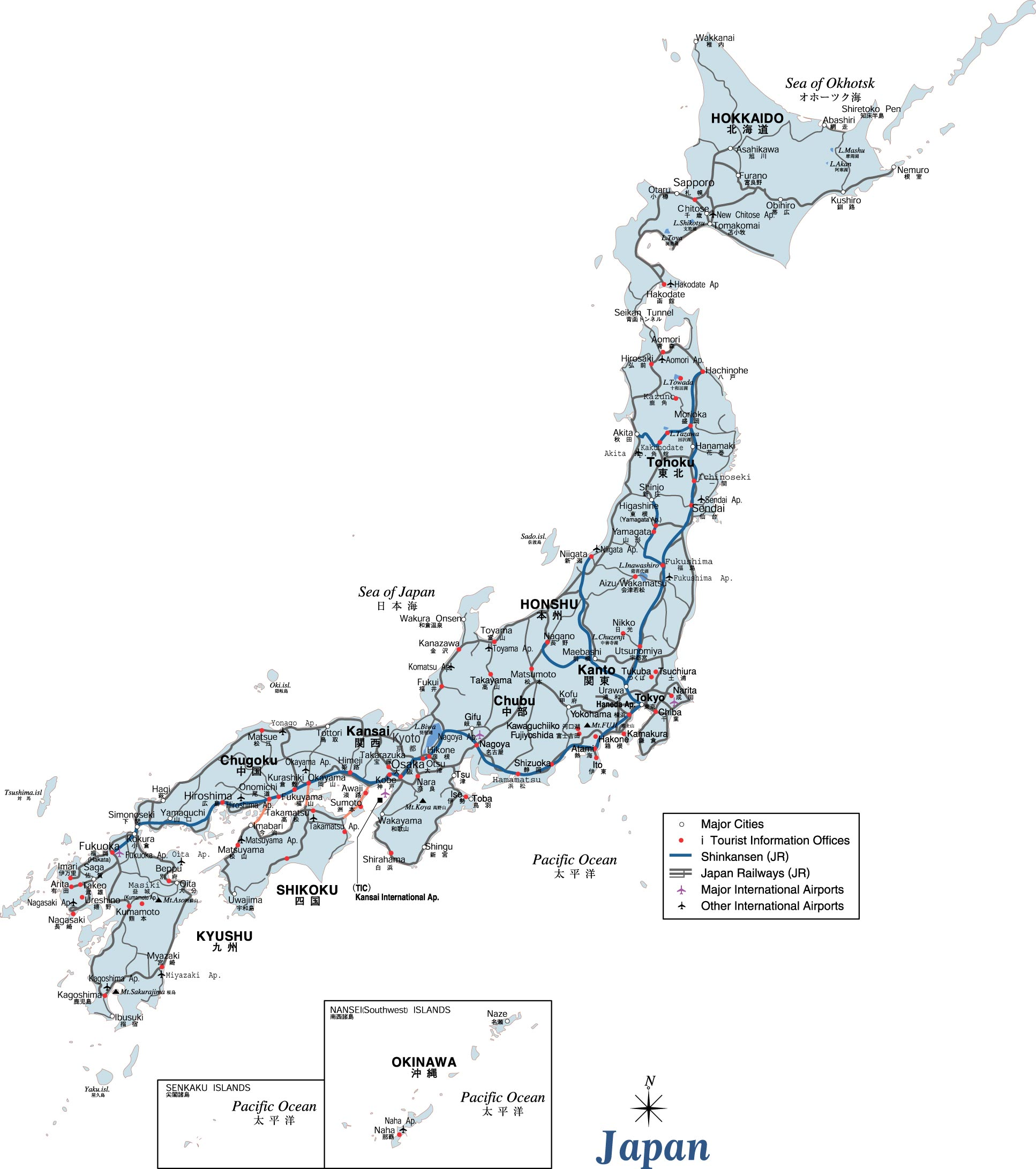 It is an image of Printable Map of Japan pertaining to 3 d