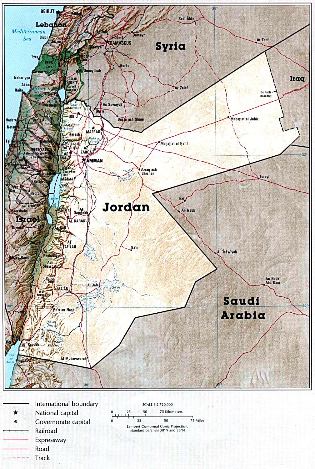 Jordan maps printable maps of jordan for download detailed map of jordan gumiabroncs Choice Image