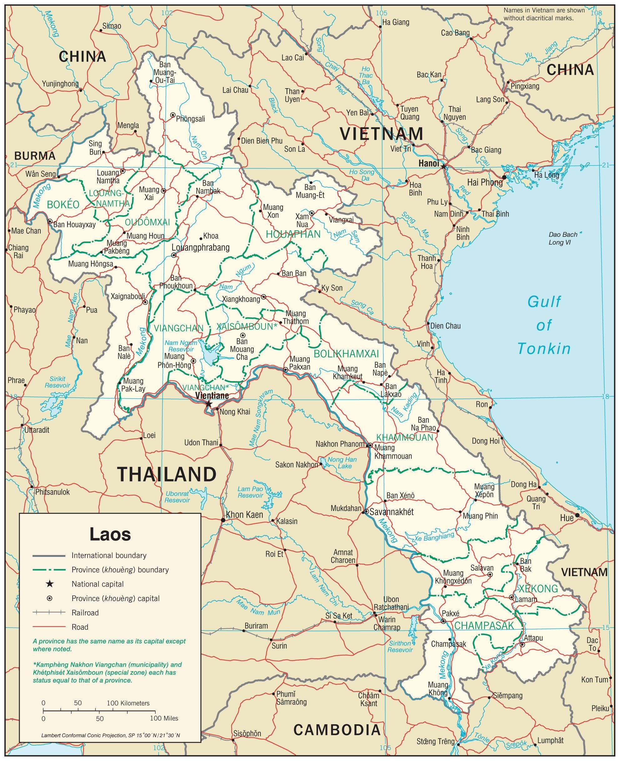 Karten Von Laos Karten Von Laos Zum Herunterladen Und Drucken