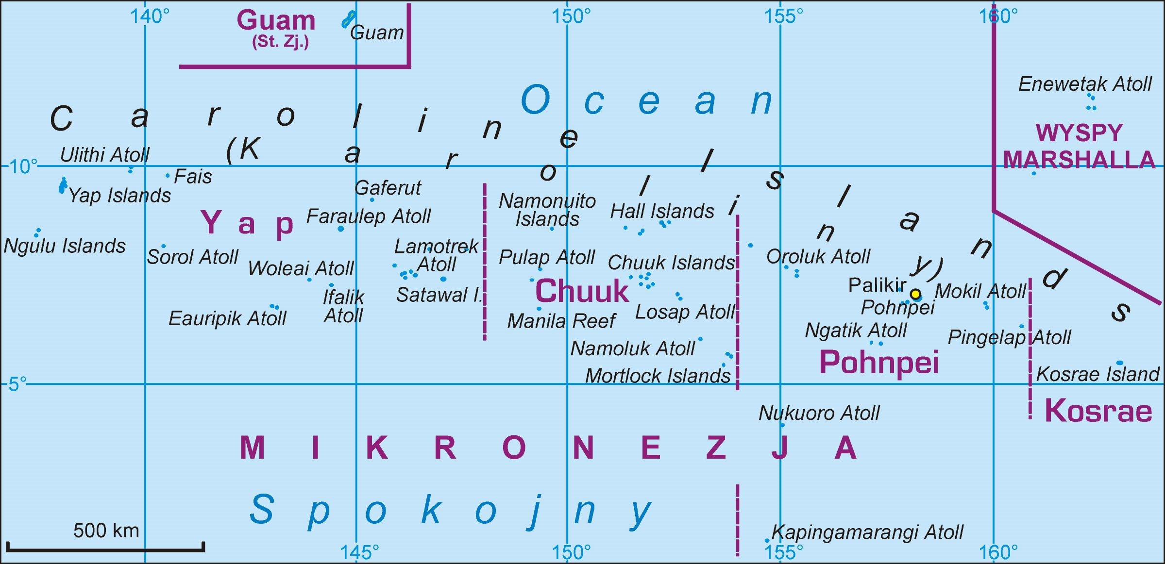 Karten Von Mikronesien Inseln Karten Von Mikronesien Inseln Zum