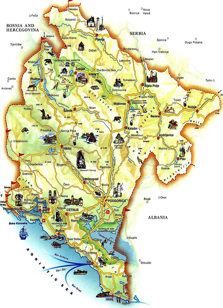 karte montenegro Montenegro Maps | Printable Maps of Montenegro for Download
