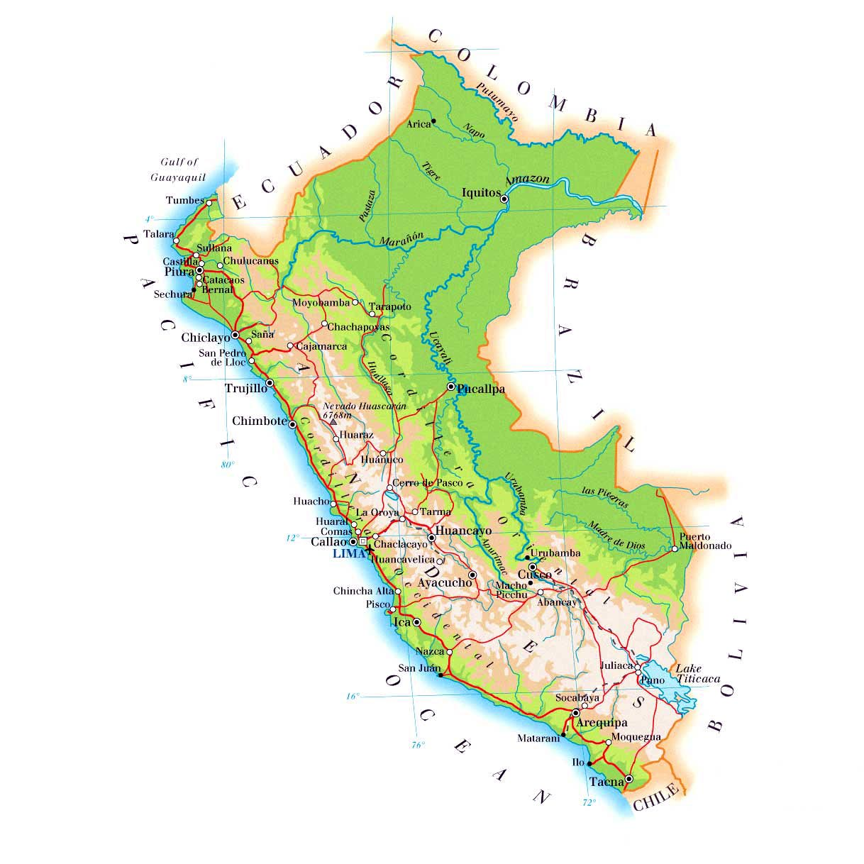 It's just a photo of Lucrative Printable Map of Peru