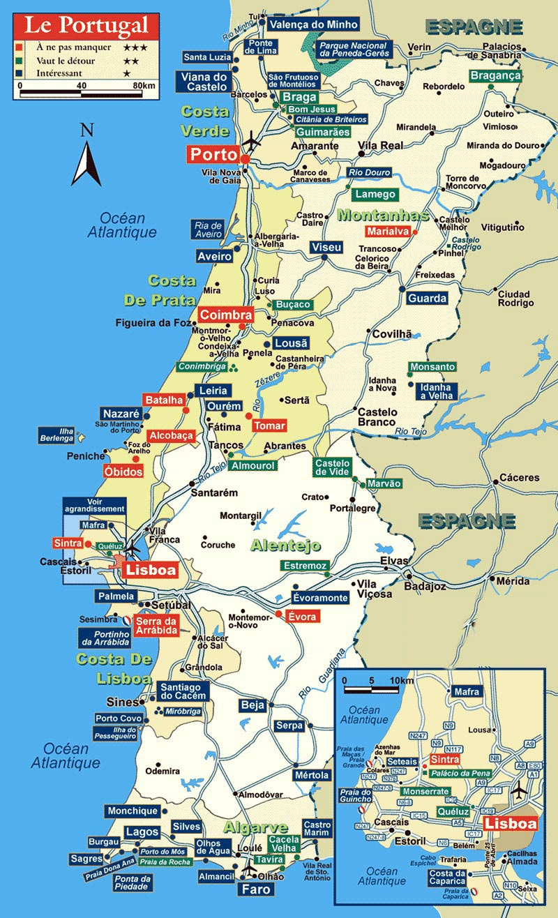 Portugal Maps Printable Maps Of Portugal For Download - Portugal map to print