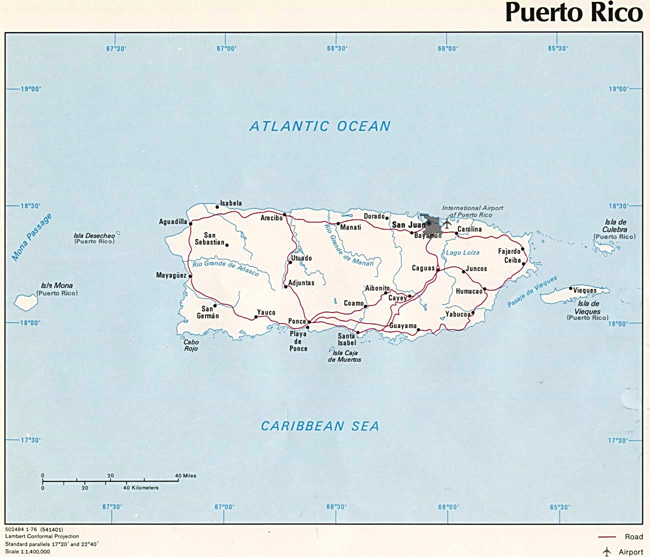 Puerto Rico Maps | Printable Maps of Puerto Rico for Download