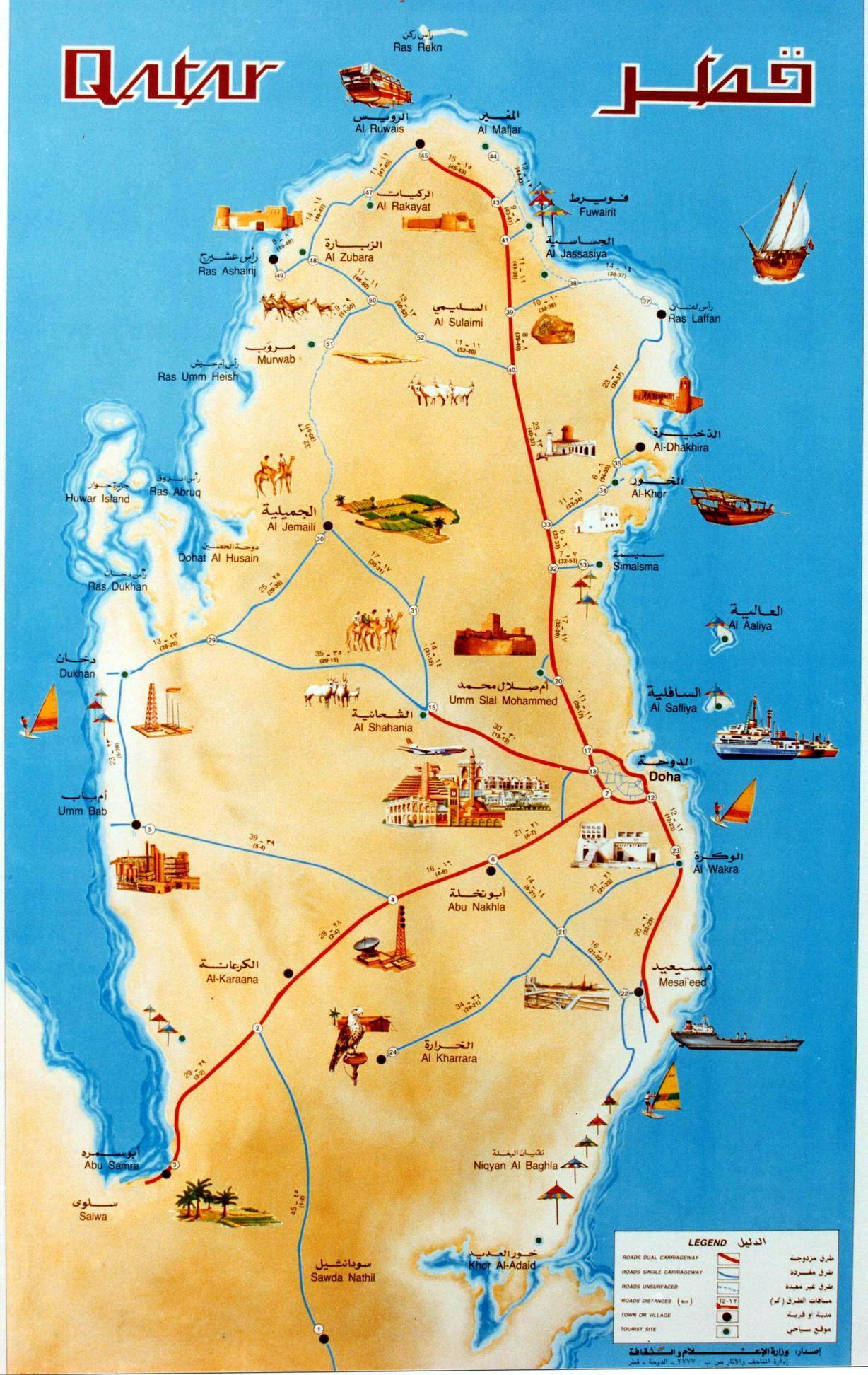 Qatar Road Map Pdf