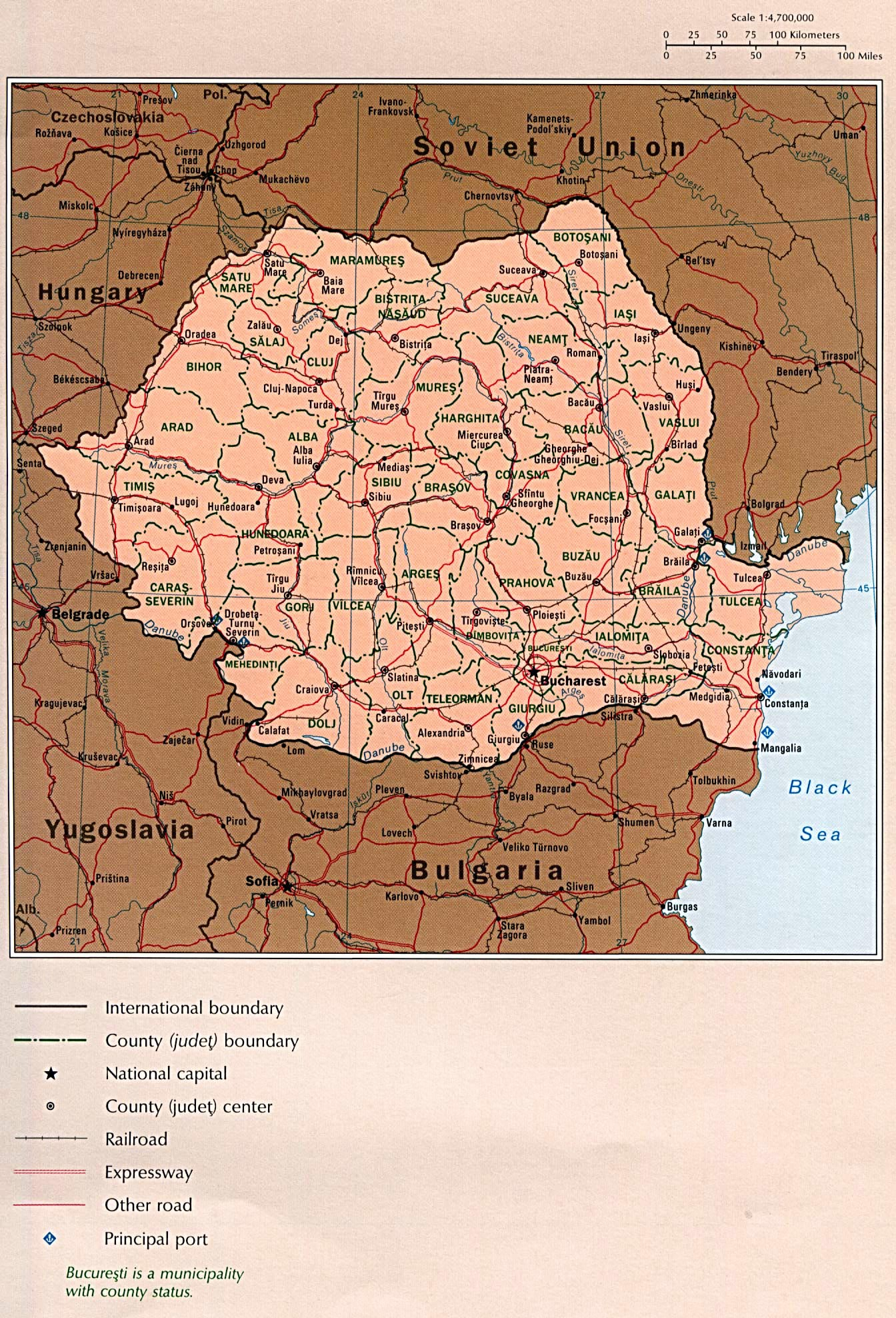 Romania Maps Printable Maps of Romania for Download