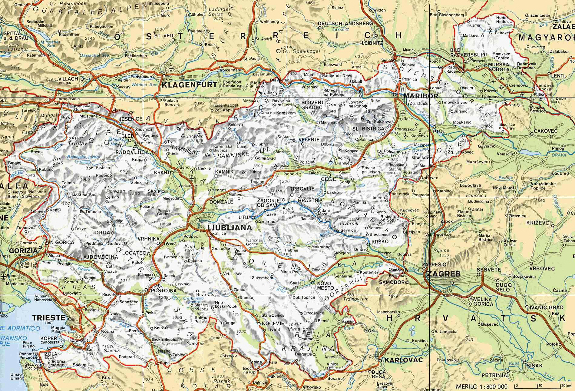 Slovenia Maps Printable Maps Of Slovenia For Download