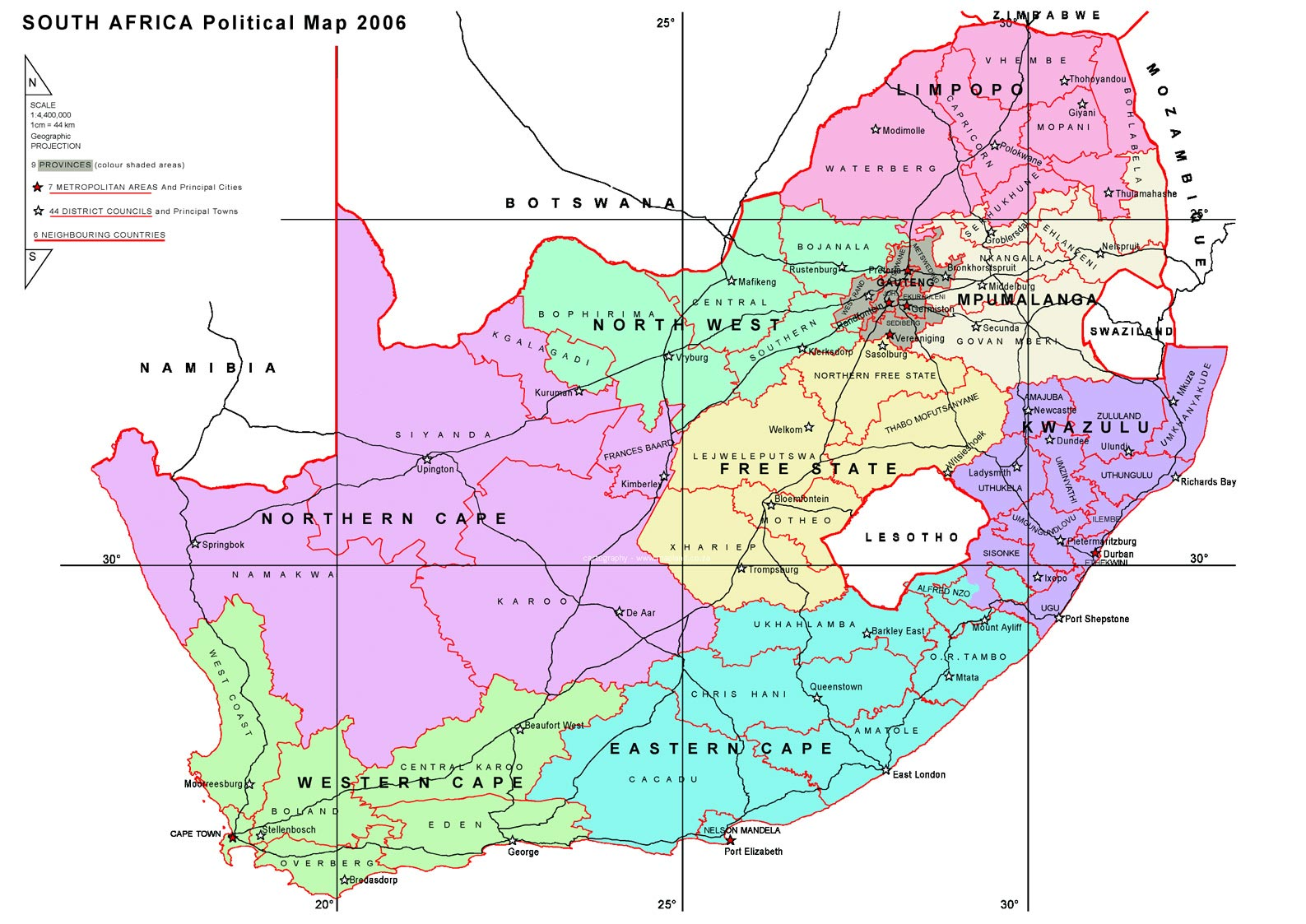 Maps South Africa.South Africa Maps Printable Maps Of South Africa For Download