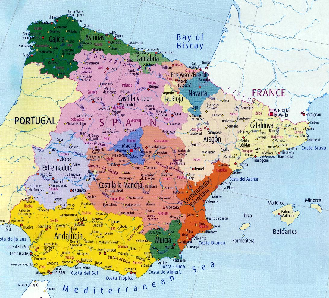 Spain Maps | Printable Maps of Spain for Download