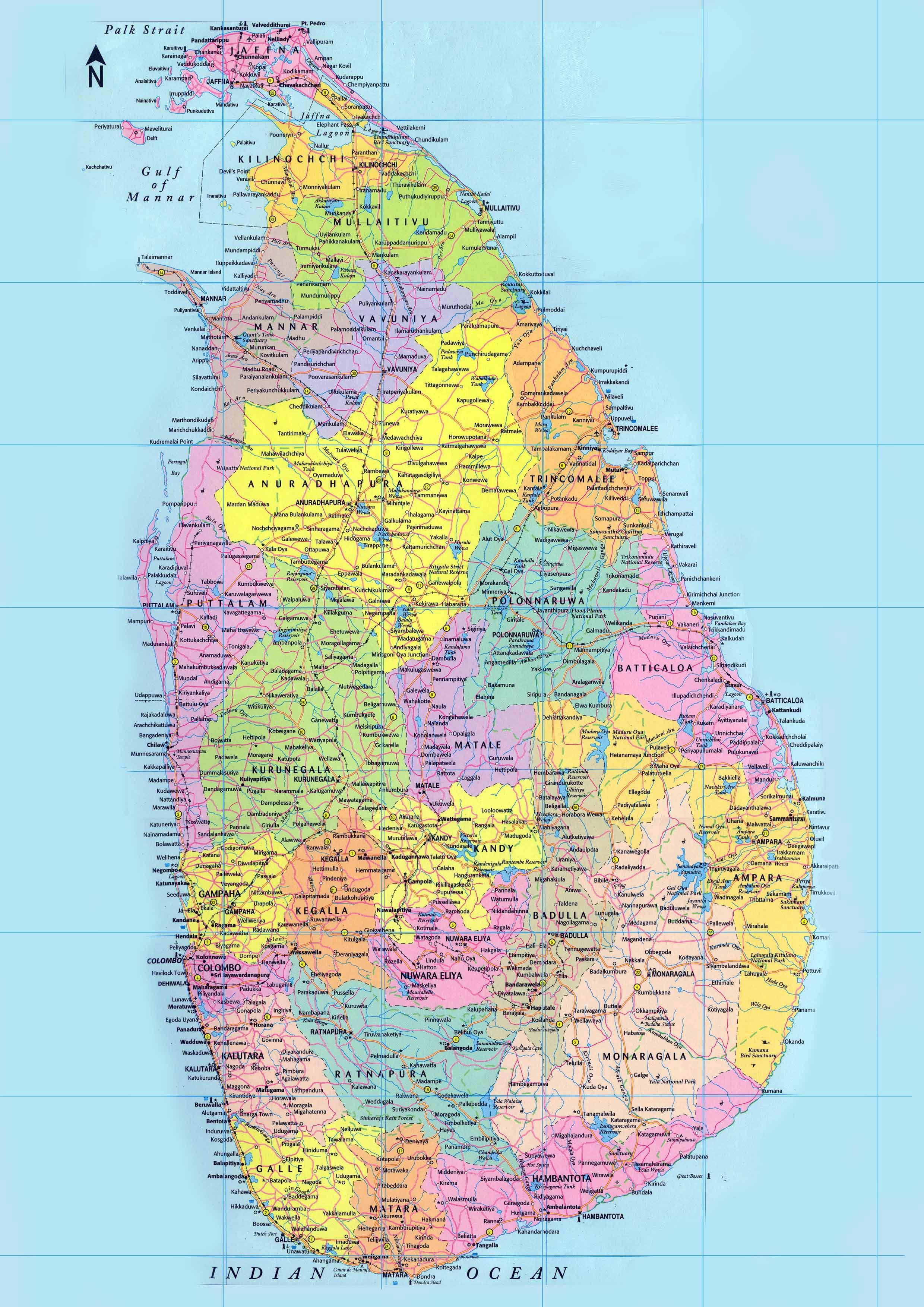Map Of Sri Lanka Sri Lanka Maps   Printable Maps of Sri Lanka for Download Map Of Sri Lanka