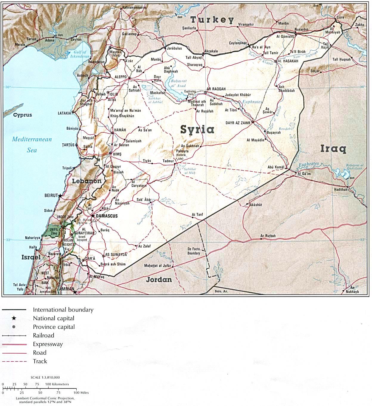 Mapas Imprimidos De Siria Con Posibilidad De Descargar