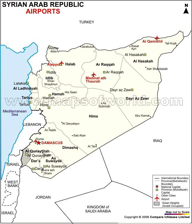 Syrien Karte Mit Städten.Karten Von Syrien Karten Von Syrien Zum Herunterladen Und Drucken
