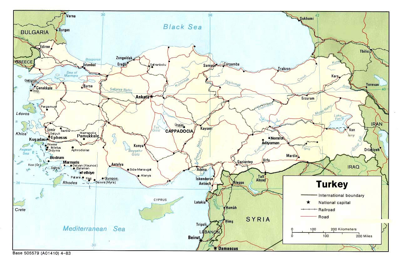 Country Maps on nevsehir turkey