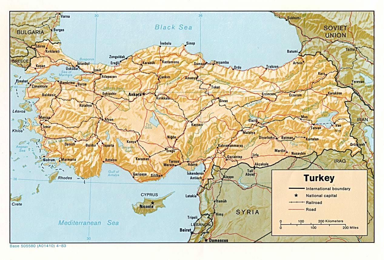 Karten Von Turkei Karten Von Turkei Zum Herunterladen Und Drucken
