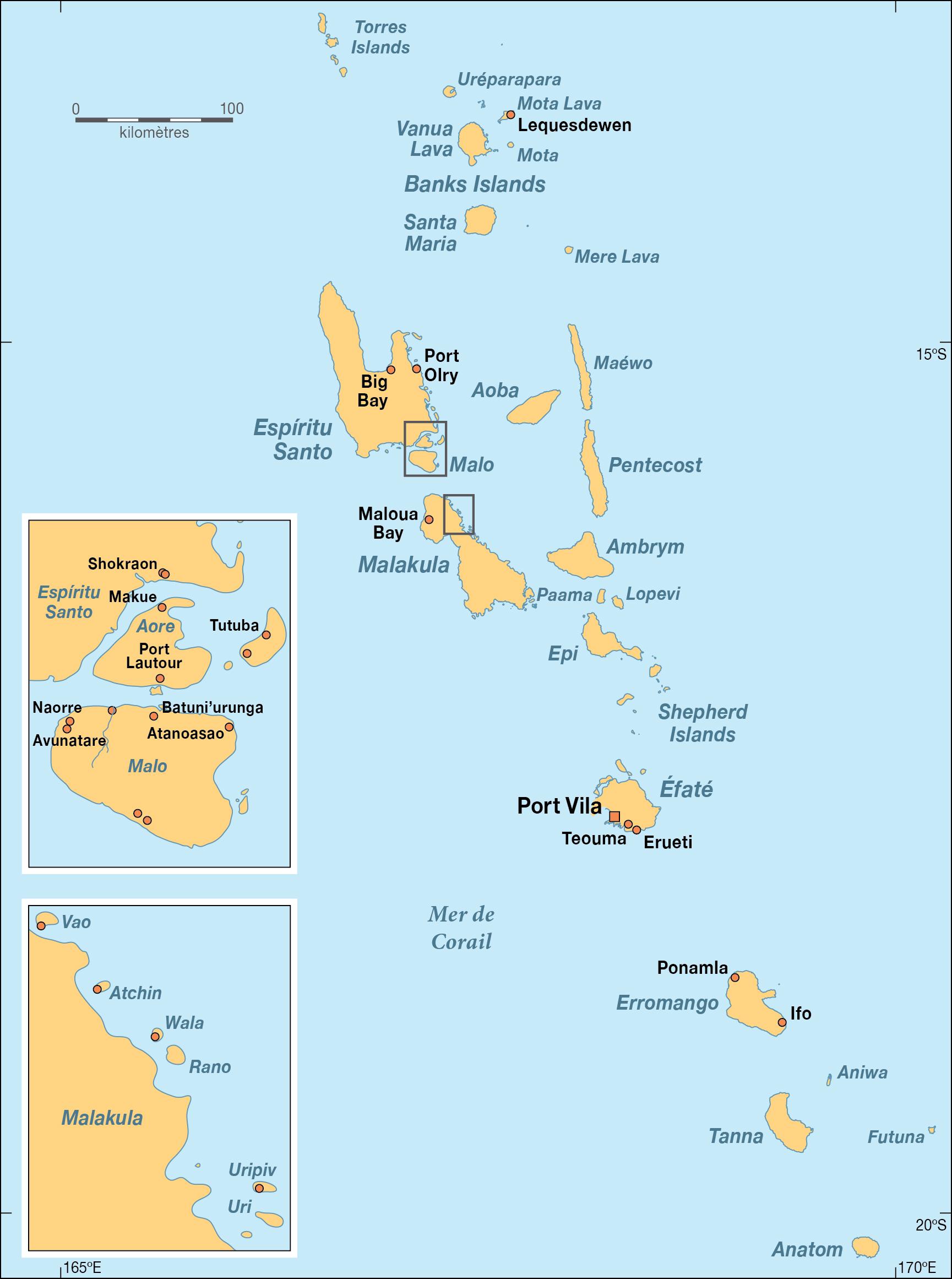 Karten Von Vanuatu Karten Von Vanuatu Zum Herunterladen Und Drucken