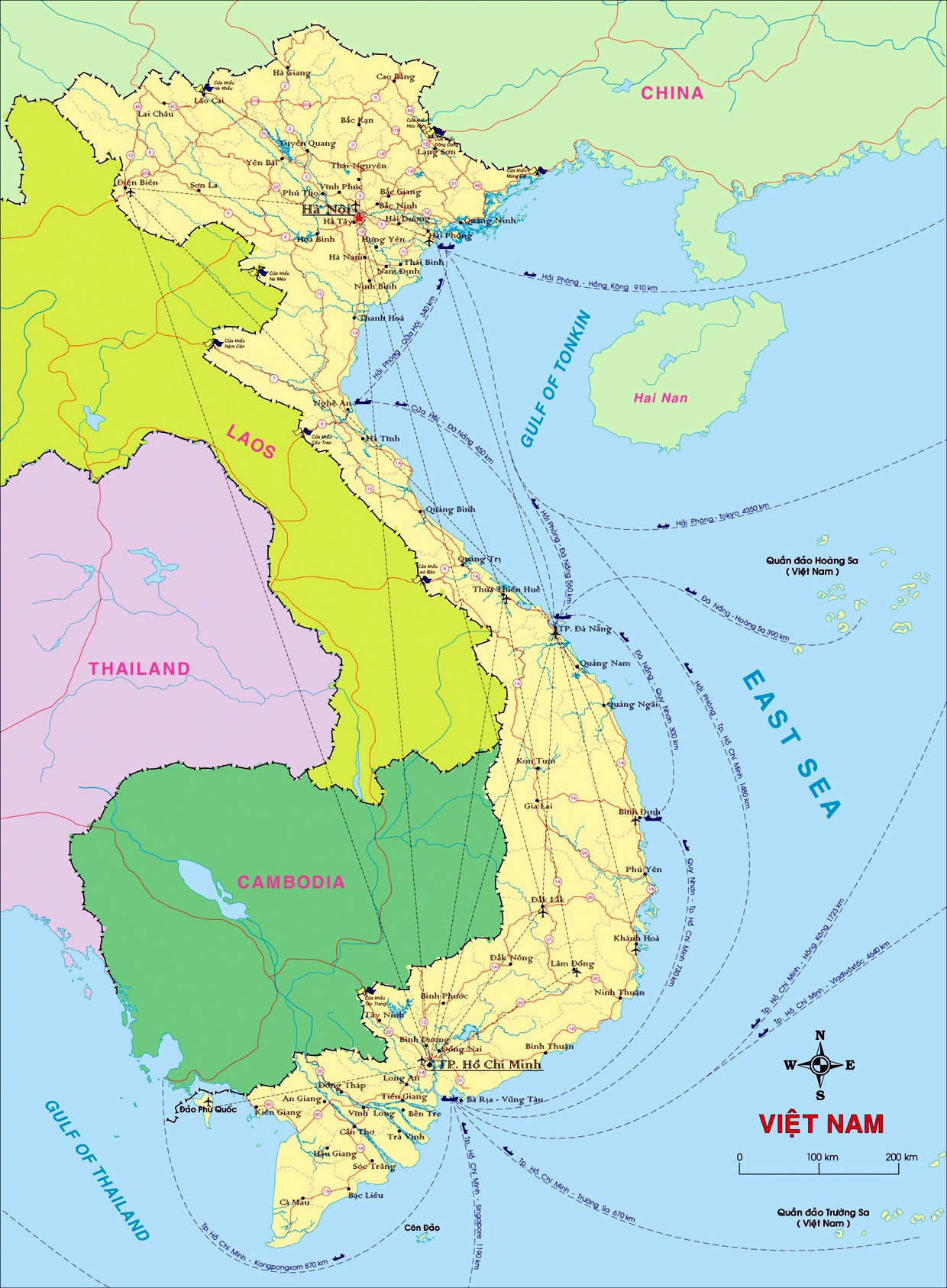 Vietnam Maps | Printable Maps of Vietnam for Download