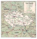 Landkarten von Tschechische Republik
