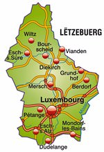 Maps of Luxemburg