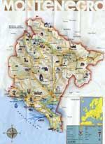 Landkarten von Montenegro