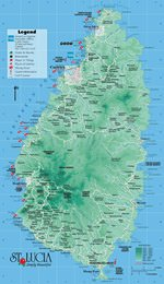 Maps of Saint Lucia