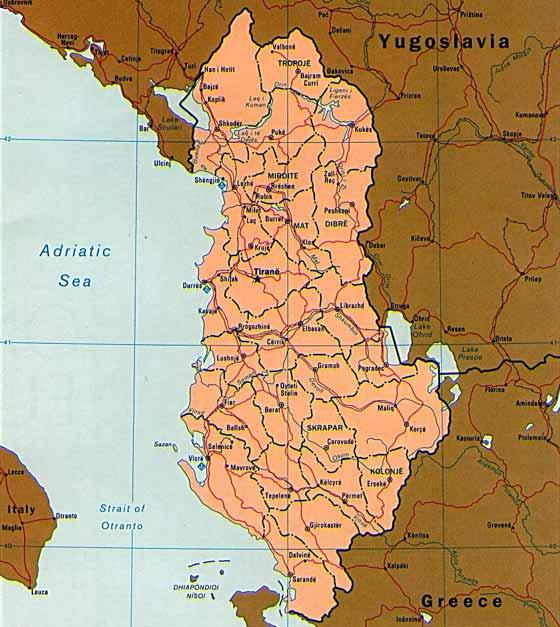 Große Karte von Albanien