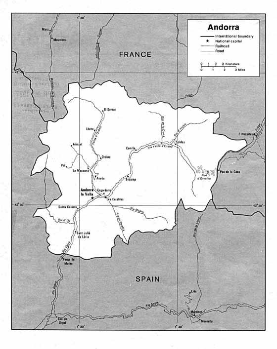 Große Karte von Andorra