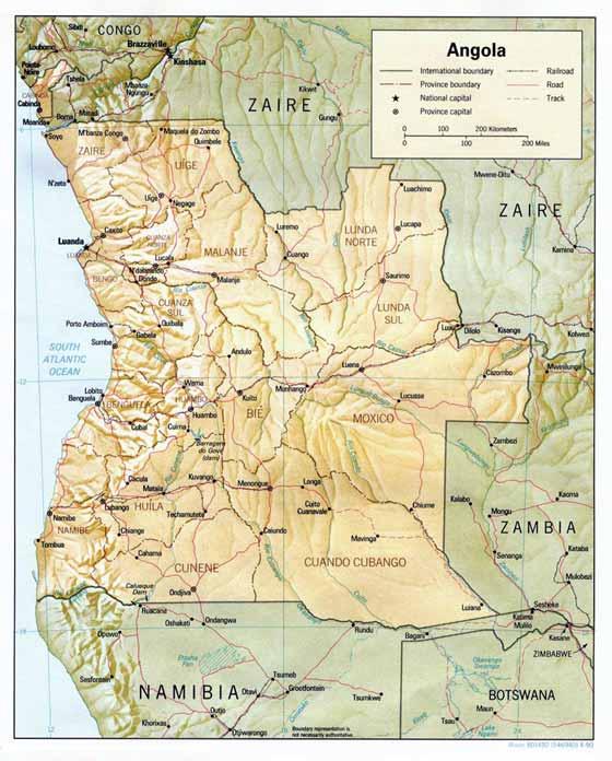Große Karte von Angola